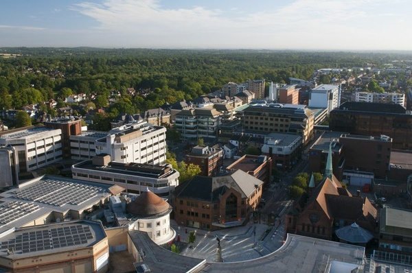 Town centre in Woking, Foto: Stadt Woking
